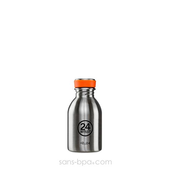 Mini gourde 250 ml URBAN - INOX