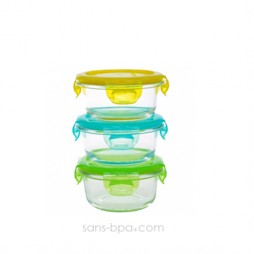 Ensemble 3 contenants verre - Snack Bowl 210ml