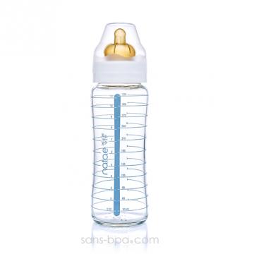 Biberon verre 330ml - Caoutchouc