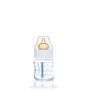Biberon verre 120ml - Caoutchouc
