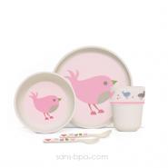 Set vaisselle biodégradable - Chirpy Bird