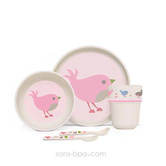 Set vaisselle biodégradable - Chirpy Bird