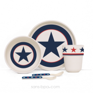 Set vaisselle biodégradable Navy Star