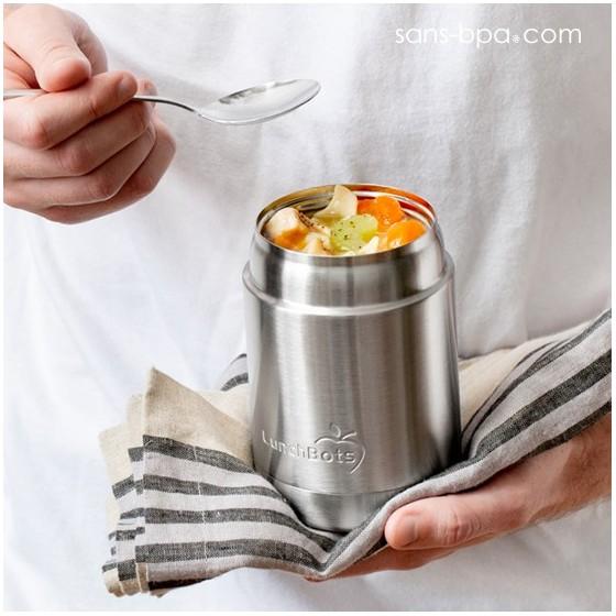 Boite repas isotherme 350 ml GRIS