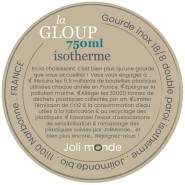 Gourde inox 750 ml - La GLOUP isotherme