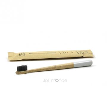 Brosse à dents bambou - RONDOCOLOR - Gris Perle