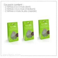 Pack 6 tétines goulot large 0 à 6 mois & plus - Organic Kidz