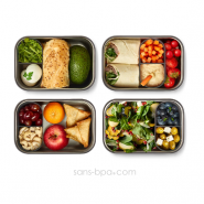 Sandwich Box - Bois & inox - Large 1250ml - Océan