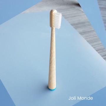 Brosse à dents bambou - CONICOLOR - Bleu canard