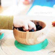 Bol bambou à ventouse & sa cuillère bébé - Green