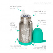 Gourde anti-fuite inox 350ml SIPPY - Ours