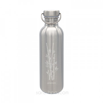 Gourde inox 1 litre SPORTY - BAMBOU