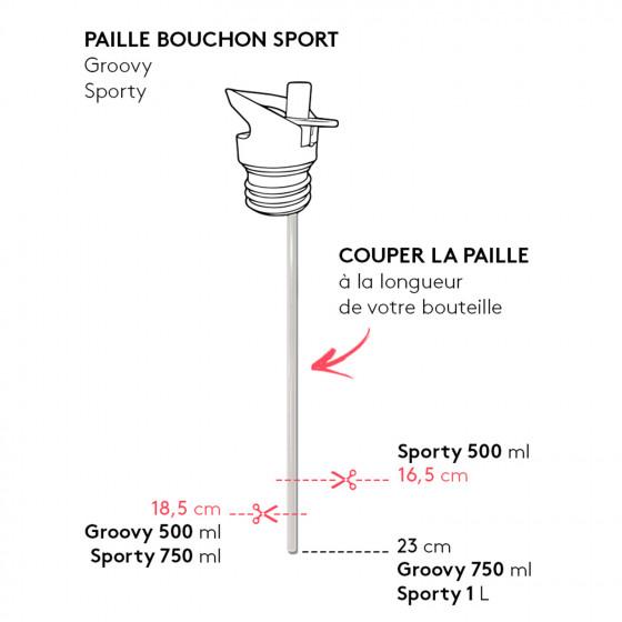 Paille pour bouchon sport Gaspajoe