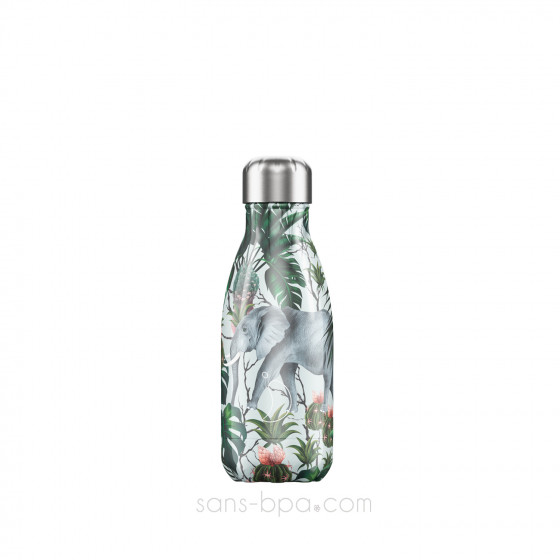Bouteille isotherme inox TROPICAL ELEPHANT 260 ml