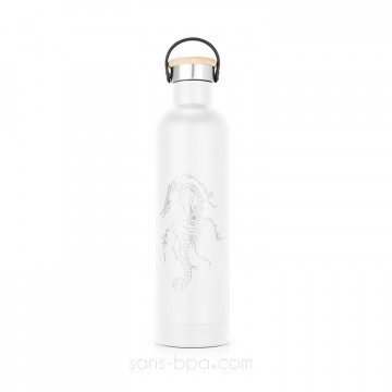 Bouteille isotherme inox 500ml Label'Tour - HIPPOCAMPE