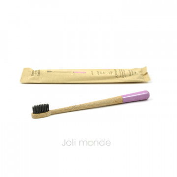 Brosse à dents bambou - RONDOCOLOR - Rose sauvage