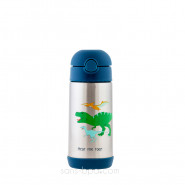 Gourde paille inox isotherme 350ml - Requin