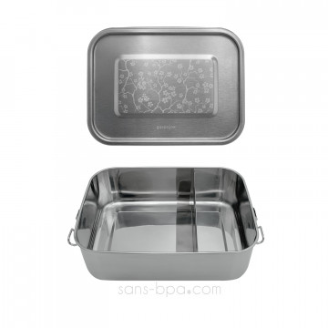 Lunchbox inox étanche à compartiments - CERISIER