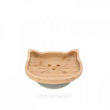 Bol bambou à ventouse Petit Chat