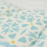 Couverture bébé matelassée coton bio - Flower