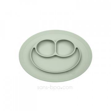 Assiette antidérapante Mini Mat - Vert amande