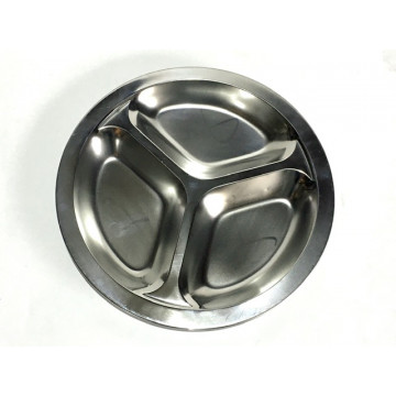 Cabosse - Assiette à compartiments inox - SMALL - Onyx