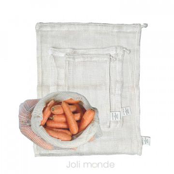 Ensemble 3 sacs à vrac - Fruits & légumes