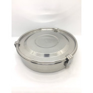 Cabosse - Boite inox compartiments diam 19cm - ONYX