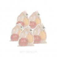 Lot 5 sacs à fruits filet SMALL