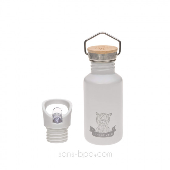 Gourde inox 500 ml - Ours gris
