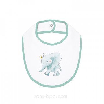 Bavoir coton BIO - ELEPHANT