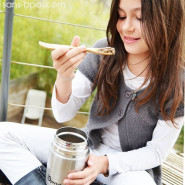 Boite repas isotherme 100% inox FLORA ROSE - 650 ml