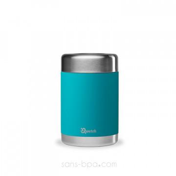 Boite repas isotherme 100% inox TURQUOISE - 650 ml