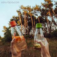 Gourde verre 500 ml - FOREST GREEN