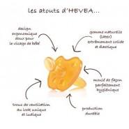 Tétine large Physiologique 3 m+ - LUNE-ETOILE - HEVEA
