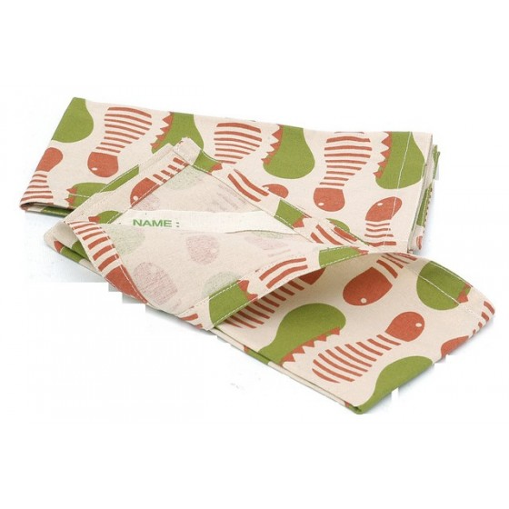 Serviette Set de table coton - Chenilles - KIDS KONSERVE