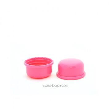 Lot 2 capuchons rose pour biberon Goulot Etroit - Organic Kidz
