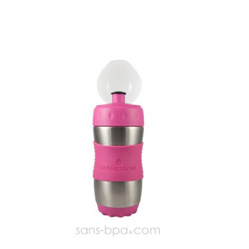 Gourde inox 355ml ROSE SafeSporter
