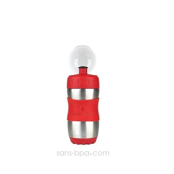 SAFE SPORTER - Gourde inox 355 ml - ROUGE - KID BASIX