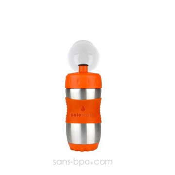 Gourde inox 355ml ORANGE SafeSporter
