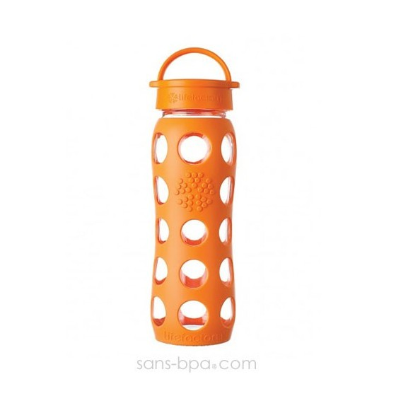 Bouteille en verre 650 ml - ORANGE - LIFEFACTORY