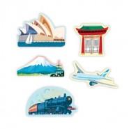 Figurine magnétiques WORLD en bois - MudPuppy