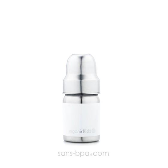 Biberon inox Goulot Large 265 ml - LAVANDE - ORGANIC KIDZ