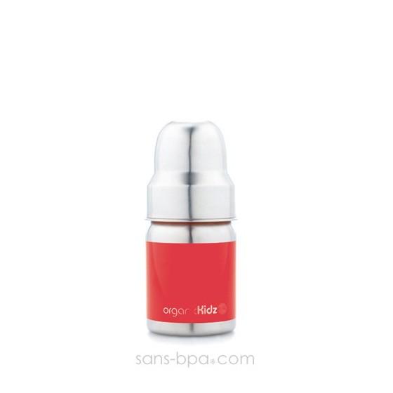 Biberon inox Goulot Large 120 ml - BLEU - ORGANIC KIDZ
