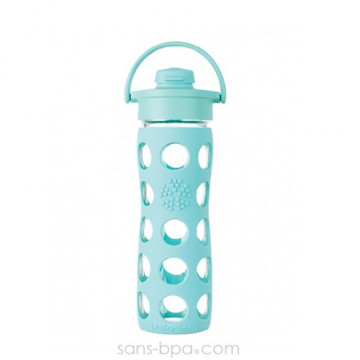 Bouteille verre 475ml FLIP - Turquoise