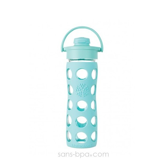 Bouteille verre 475ml FLIP Turquoise