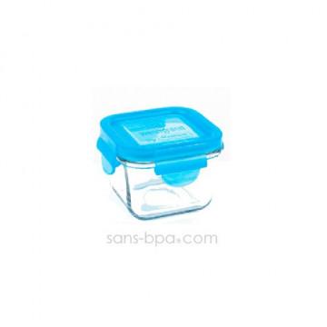 Contenant verre Snack Cube 210ml - Azur