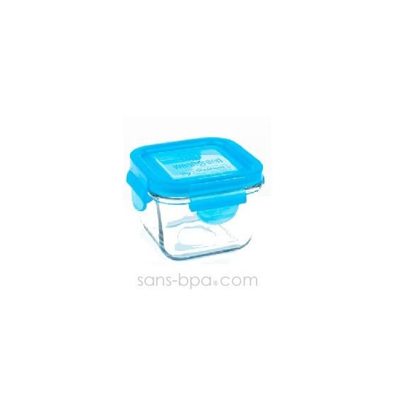 Contenant verre Snack Cube 210ml - Carotte