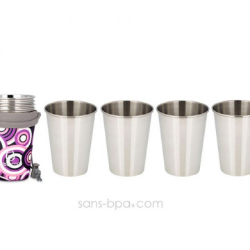 Set 4 verres 350 ml PURPLE