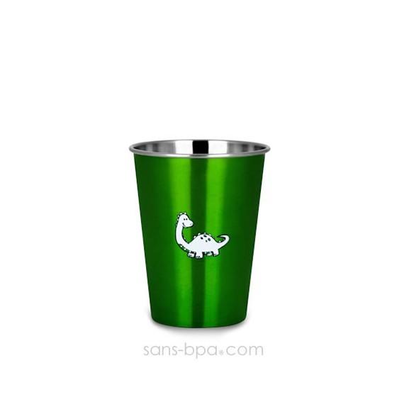Verre inox 350ml GREEN DINO